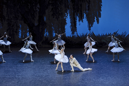 CHENGDU - JAN 5: The national ballet of china perform on stage at Jincheng theater.Jan 5, 2012 in Chengdu, China.