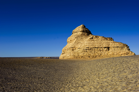 gobi: unique yadan earth surface in the Gobi Desert in Dunhuang,China Stock Photo