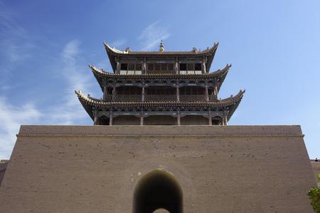 jiayuguan pass tower: Jiayuguan Pass Tower in GanSu,China