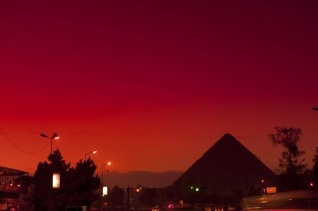 cheops: Pyramid of Giza in the morning