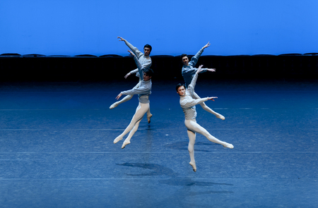 male ballet dancer: CHENGDU - JAN 5: The national ballet of china perform on stage at Jincheng theater. Jan 5, 2012 in Chengdu, China.