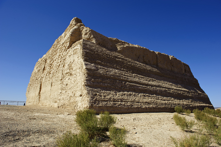 ancient relics: ancient Yumenguan Pass(Jade Gate Pass) in Dunhuang city of China