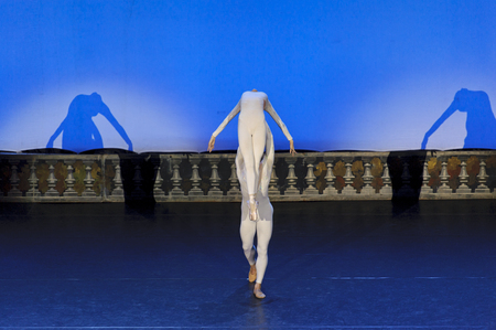male ballet dancer: CHENGDU - JAN 5: The national ballet of china perform on stage at Jincheng theater.Jan 5, 2012 in Chengdu, China.