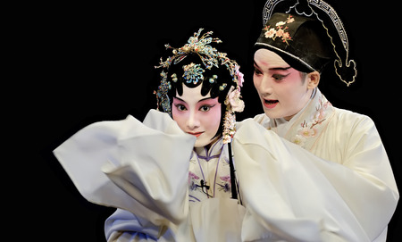 CHENGDU - MAY 23: Suzhou KunQu Opera Theater of china perform The Peony Pavilion at Golden theater . The leading role is the famous opera actress Shen Fengying.