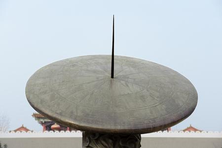 reloj de sol: reloj de sol chino Foto de archivo