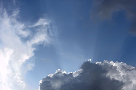 Heaven. Sunlight penetrated because of thick clouds Stock Photo - 7708908