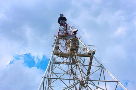 Television receiving-transmitting antenna photo