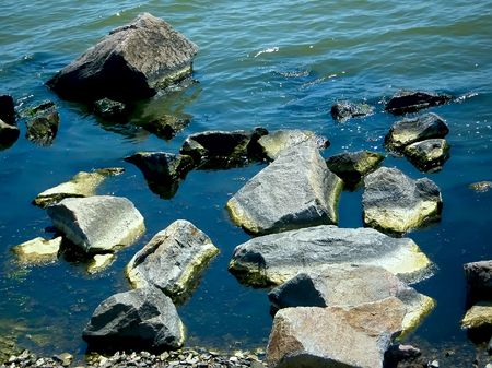 Big stones in the water on the beach Stock Photo - 7709101
