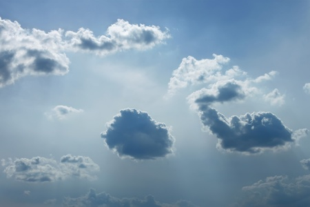 Heaven. Cloudscape of various light intensity clouds Stock Photo - 9471042