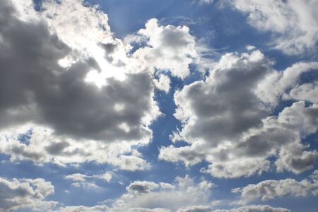 Heavens. Sun behind the cloud, warm summer day Stock Photo - 10362127