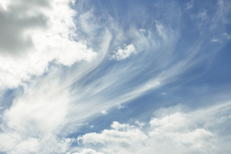 Heavens. Beautiful cloudscape, warm fine summer day Stock Photo