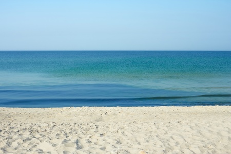 Sky, sea and sand. The summer seascape
