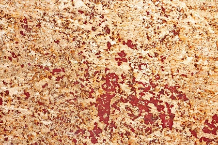 Old metal surface is covered with several multicolour layers of shelled paint photo