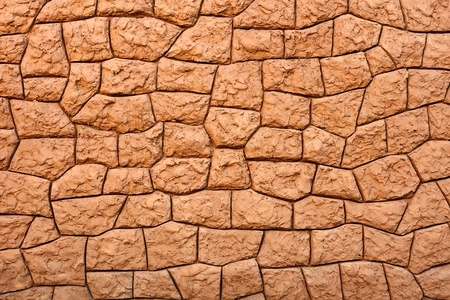 sulcus: Detail of decorative sticky wall as a texture Stock Photo