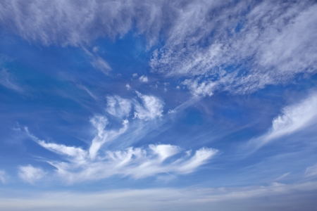 Beautiful cloudscape with stratospheric clouds and others photo