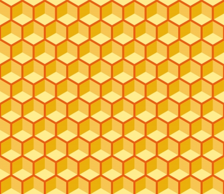 Seamless hexagonal cells texture. Editable, reddish background, you can change the background or cells color on any other Vector