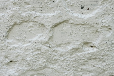 Fragment of old concrete wall whitewashed with lime photo