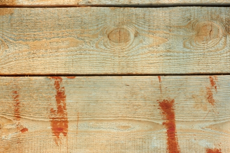 partly: New wooden boards partly covered with red paint