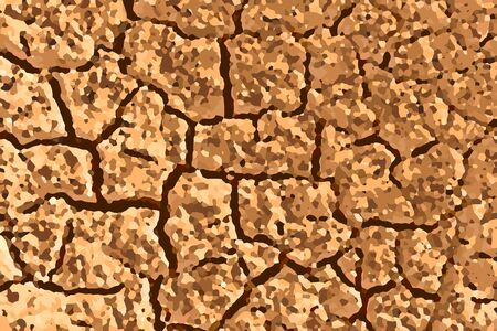 Abstract background with dried cracked soil, illustration