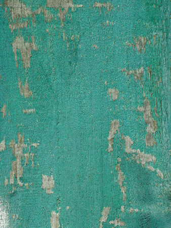 Turquoise wooden painted aged detailed texture with peeling paint