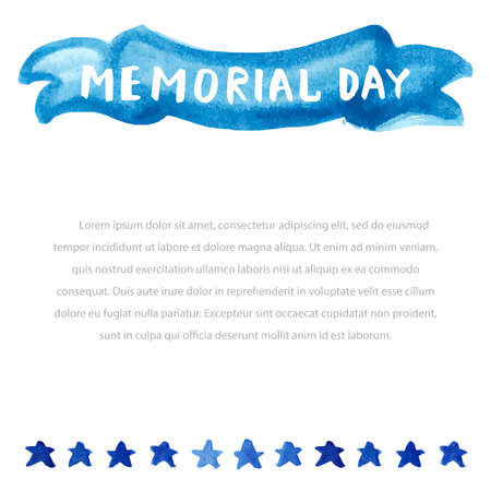 national hero: Memorial day. Vector illustration with american flag.