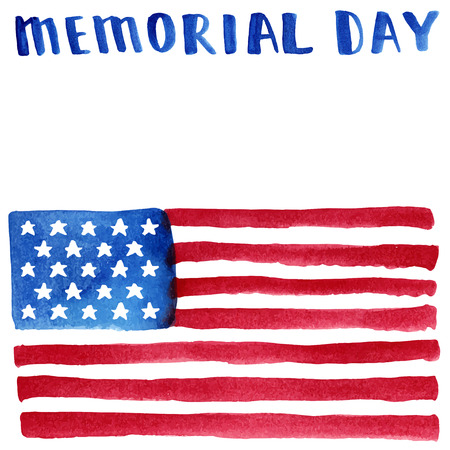 flag of usa: Memorial day. Vector illustration with american flag.