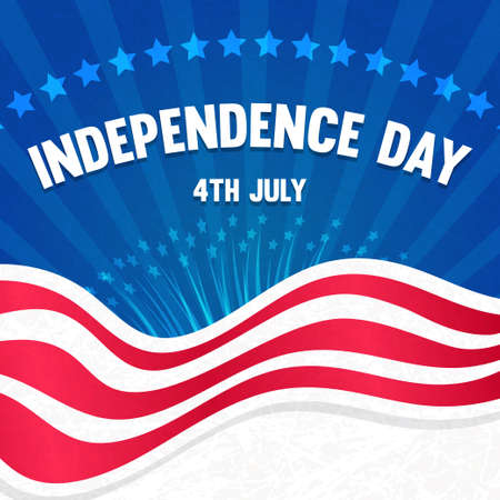4th of july: 4th july Independence Day card. Vector iillustration.