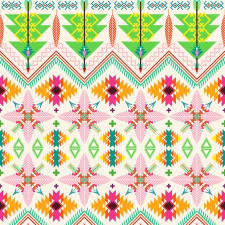 tribales: De fondo sin fisuras tribal. Ilustración del vector. Arte tribal y diseño azteca.