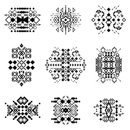 tribal: Tribal elements collection. Vector illustration set.Tribal art and aztec design.