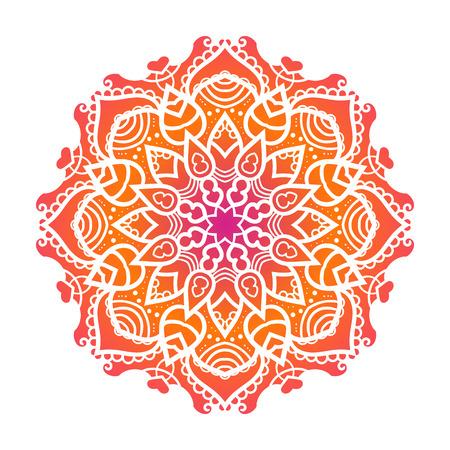 Vector mandala ornament. Round floral pattern. Hand drawn decorative element. 版權商用圖片 - 45359830