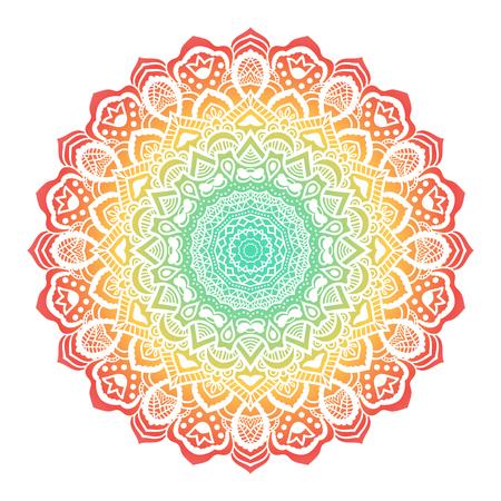Vektor-Mandala-Verzierung. Rundes Blumenmuster. Hand gezeichnetes dekoratives Element. Standard-Bild - 45359840