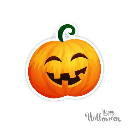 scary pumpkin: Isolated vector pumpkin, Halloween theme Isolated icon. Illustration