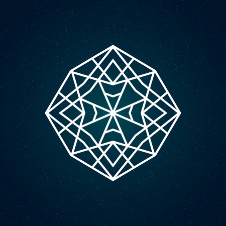 sacred geometry: Sacred geometry illustration. Geometry symbol and element.
