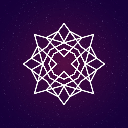 universal enlightenment: Sacred geometry illustration. Geometry symbol and element.
