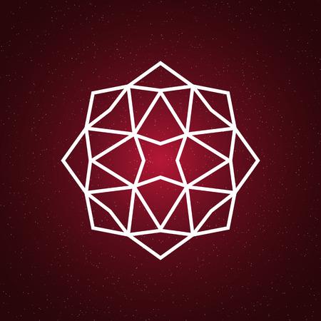 Sacred geometry illustration. Geometry symbol and element.