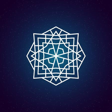 geometry: Sacred geometry illustration. Geometry symbol and element.