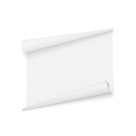 white blank: Isolated white sticker. Vector ribbon on a white background.