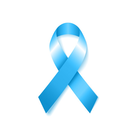 Light Blue Awareness Ribbon. Prostate Cancer ribbon awareness. Vector illustration.