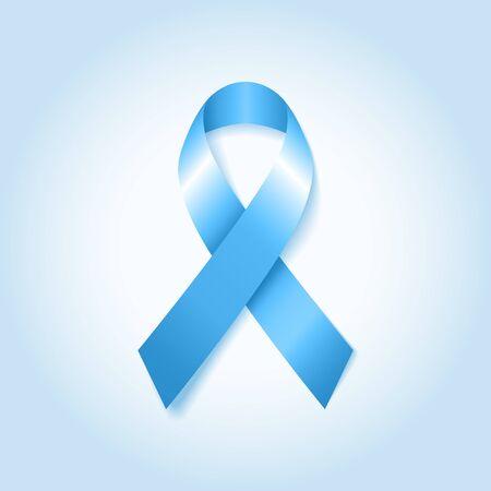 ライト ブルー アウェアネス リボン。前立腺がんのリボンの意識。ベクトルの図。  イラスト・ベクター素材