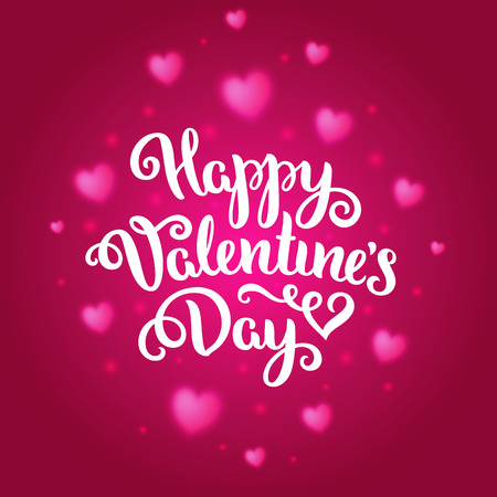 shiny day: Happy Valentines Day card. Romantic vector background with hearts. Romantic illustration.
