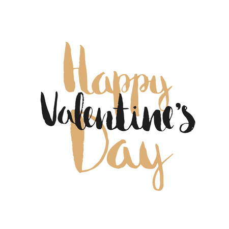Tarjeta feliz del día de San Valentín. Vector de fondo romántico con las letras. Ilustración romántica.