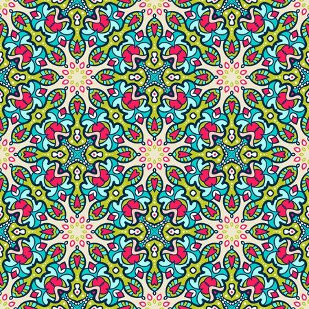 民族のシームレスなパターン。部族のベクトルの背景。アステカと部族ビンテージ インド スタイルを印刷します。  イラスト・ベクター素材