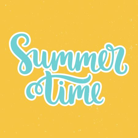 bue: Vector calligraphy. Hand drawn lettering poster. Vintage typography card. Summer time.