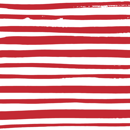 Grunge red and white stripes. Vector pattern design. Striped background. Illustration