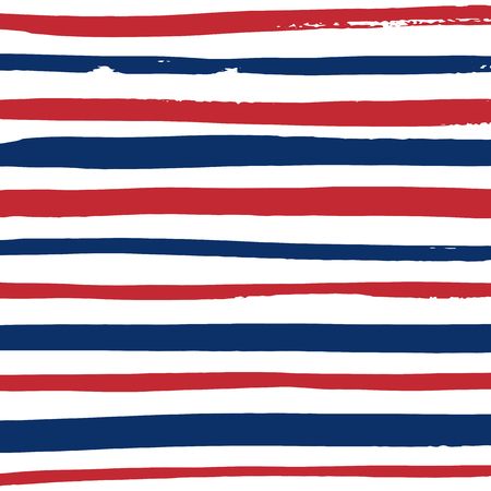 blue stripes: Grunge blue, red and white stripes. Vector pattern design. Striped background.