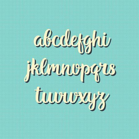 decorative letters: Hand drawn vector alphabet. Decorative letters set. Vintage style background. Illustration