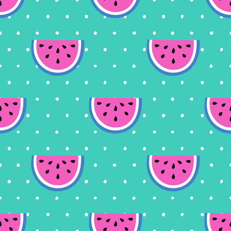 Seamless summer pattern. Vector background with different elements. Design for prints, shirts and posters.