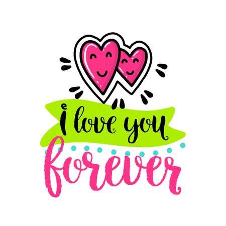 292 i love you forever stock vector illustration and royalty free i rh 123rf com Forever Family Clip Art I Love You More Clip Art