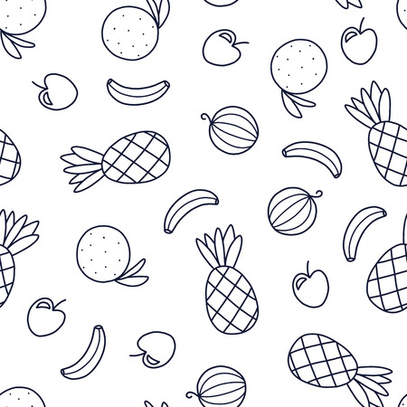 Doodles of cute seamless pattern.