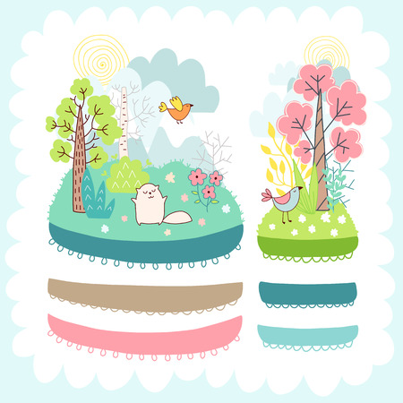 Doodles cute elements Illustration